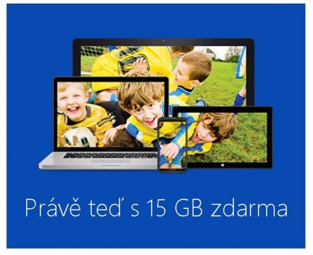 Upoutávka 15 GB Onedrive