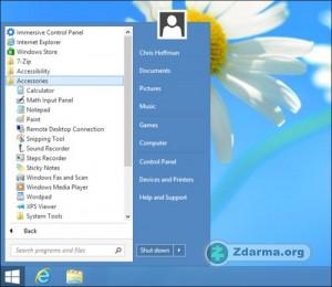 Start Menu 8 startovací menu ve Windows 8