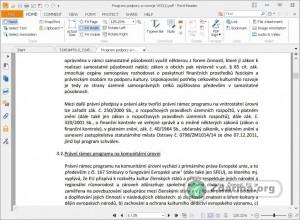 Foxit PDF Reader s otevřeným PDF dokumentem