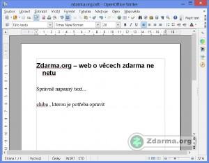 OpenOffice Writer, textový procesor kancelářského balíku