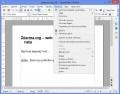 Menu Nástroje v programu Writer