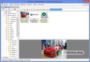 Xnview zobrazující přehled souborů s větším nahledem jednoho z nich.