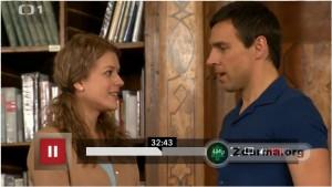 Andrea Kerestešová a Roman Vojtek (hlavní hrdinové) v seriálu Vyprávěj
