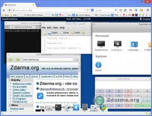 Symbiose s několika otevřenými programy (okny)