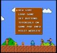 Úvodní menu hry