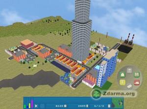Budovy a cesta ve hře Open City