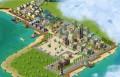 Město na pobřeží s jachtami