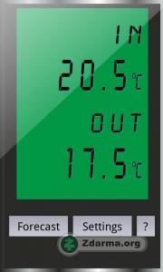 Aplikace Teploměr pro android