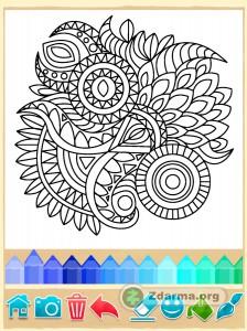 příklad šablony v aplikaci na kreslení