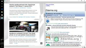 Prohlížení více, v tomto případě dvou, webů současně