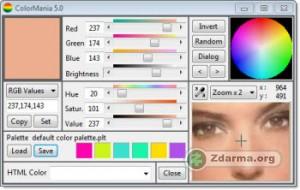 Detekce barvy na obrazovce