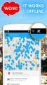 není samozřejmě nutné žádné připojení k internetu pro vyhledávání na mapě