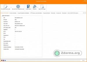 výpis informací a ukázka programu