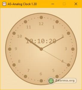 hodiny v digitální i analogové podobě na plochu