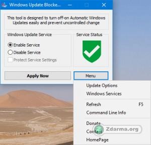 aktualizace povoleny - snadné ovládání programu