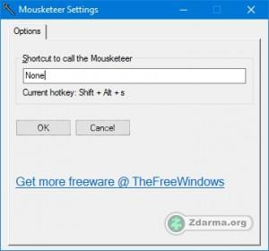 Rozhraní programu Mouseketeer