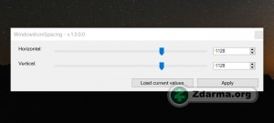 Nastavení mezer mezi ikonami