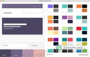 Procházení barevných kolekcí a schémat