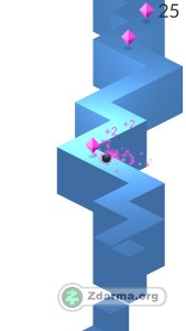 ukázka ze hry - jednoduché vedení kuličky