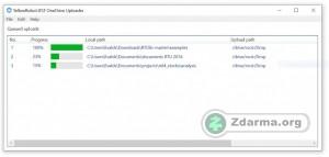 nahrávání v OneDrive Uploader je snadné - lze přesunout i více souborů