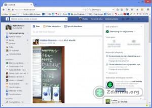 Vlastní tak zvaná zeď uživatele na Facebooku