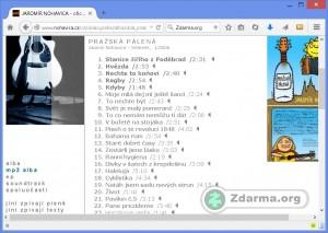 Jednotliv� MP3 soubory alba Pra�sk� p�len� na webu