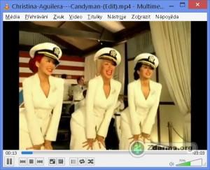 VLC media player při přehrávání videa