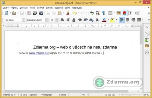 LibreOffice Writer, textový procesor balíku