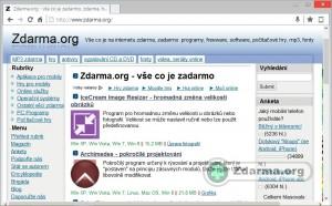 Webová stránka načtená v prohlížeči Polarity