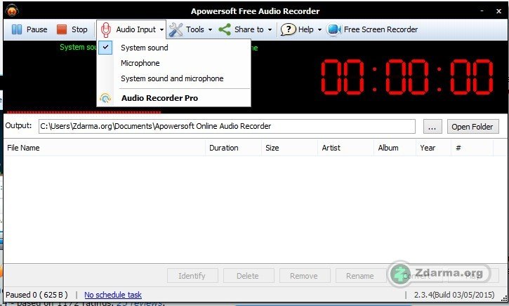Nahrávání zvuku z pc free