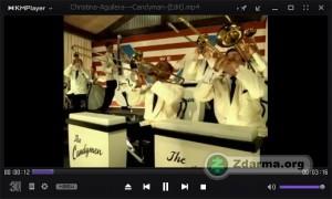 KMPlayer při přehrávání videa