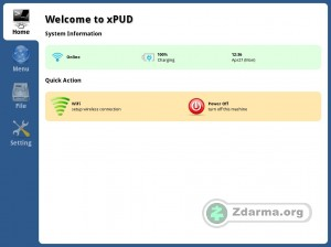 Hlavní obrazovka systému xPUD s přehledem
