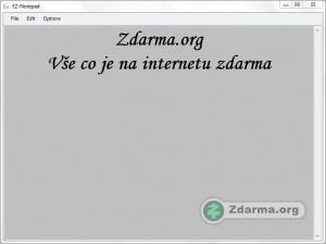 Náhled textového editoru EZ-Notepad
