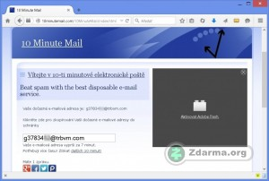 Web 10 Minute Mail s adresou