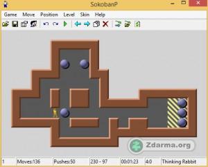 Hra Sokoban a plán první úrovně