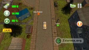 Ukázka ze hry Grand Taxi Driver 3D