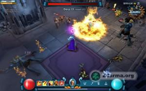 Hra za mága a likvidace monster pomocí ohnivé magie