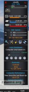 Panel aplikace W8 Sidebar