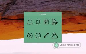 Hlavní okno programu Free Desktop Widget Toolbox