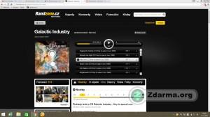přehrávání písní kapely Galactic Industry